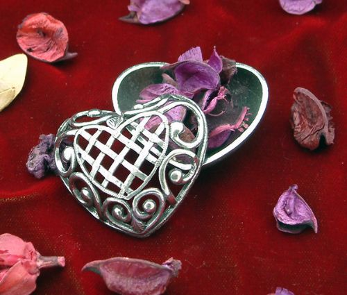 Heart Pewter Pomander